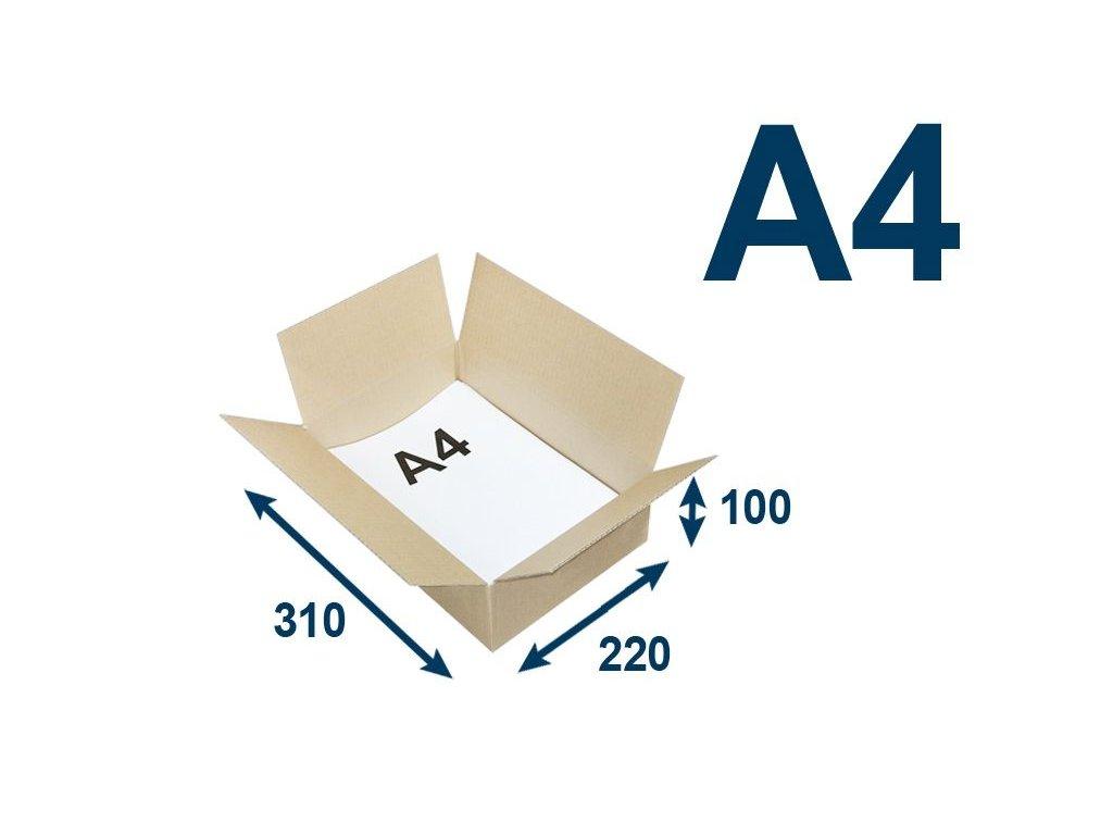 krabica chlopnova na tlacoviny a4 310 x 220 x 100 3vvl