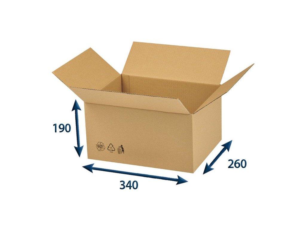 krabica chlopnova 340 x 260 x 190 3vvl