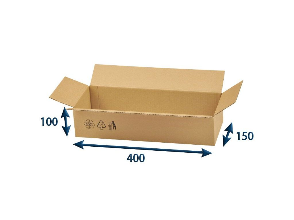 kartonova krabica 400 x 150 x 100 3vvl chlopnova