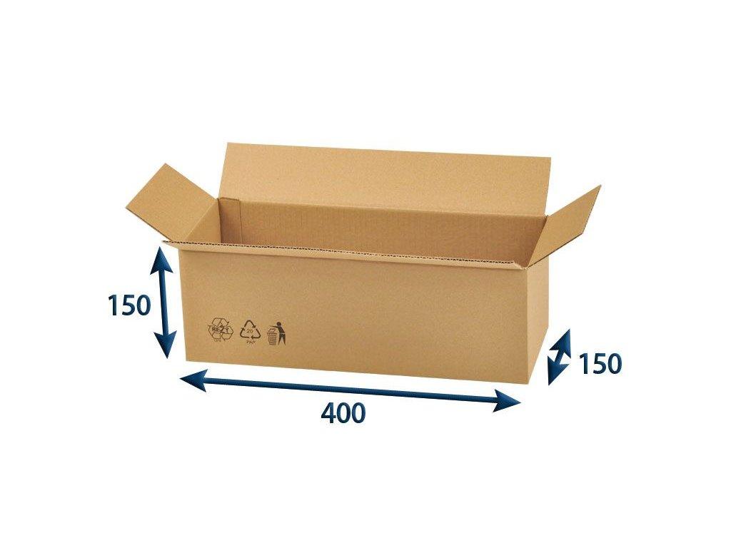 kartonova krabica 400 x 150 x 150 3vvl chlopnova