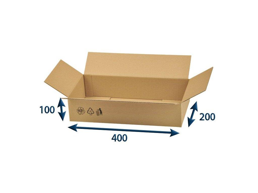 kartonova krabica 400 x 200 x 100 3vvl chlopnova