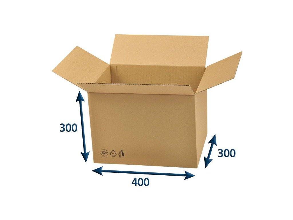 kartonova krabica 400 x 300 x 300 3vvl chlopnova
