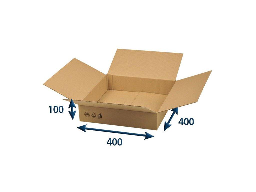 kartonova krabica 400 x 400 x 100 3vvl chlopnova