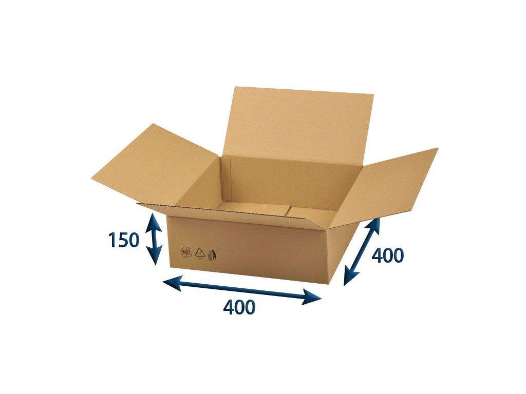 kartonova krabica 400 x 400 x 150 3vvl chlopnova