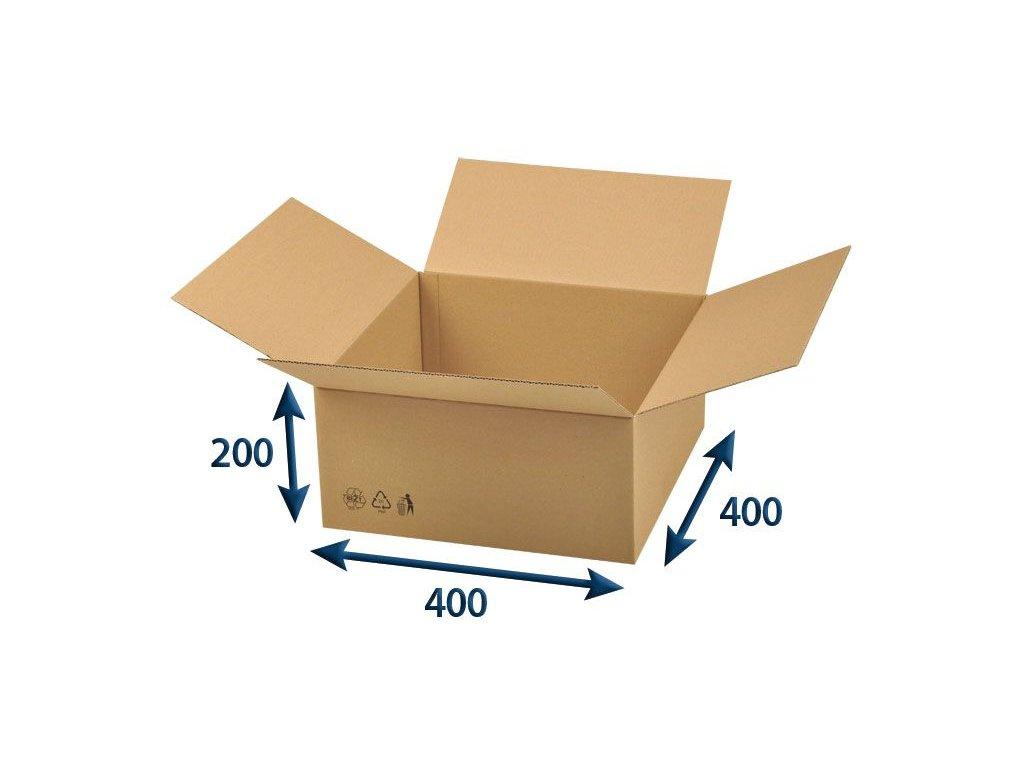 kartonova krabica 400 x 400 x 200 3vvl chlopnova