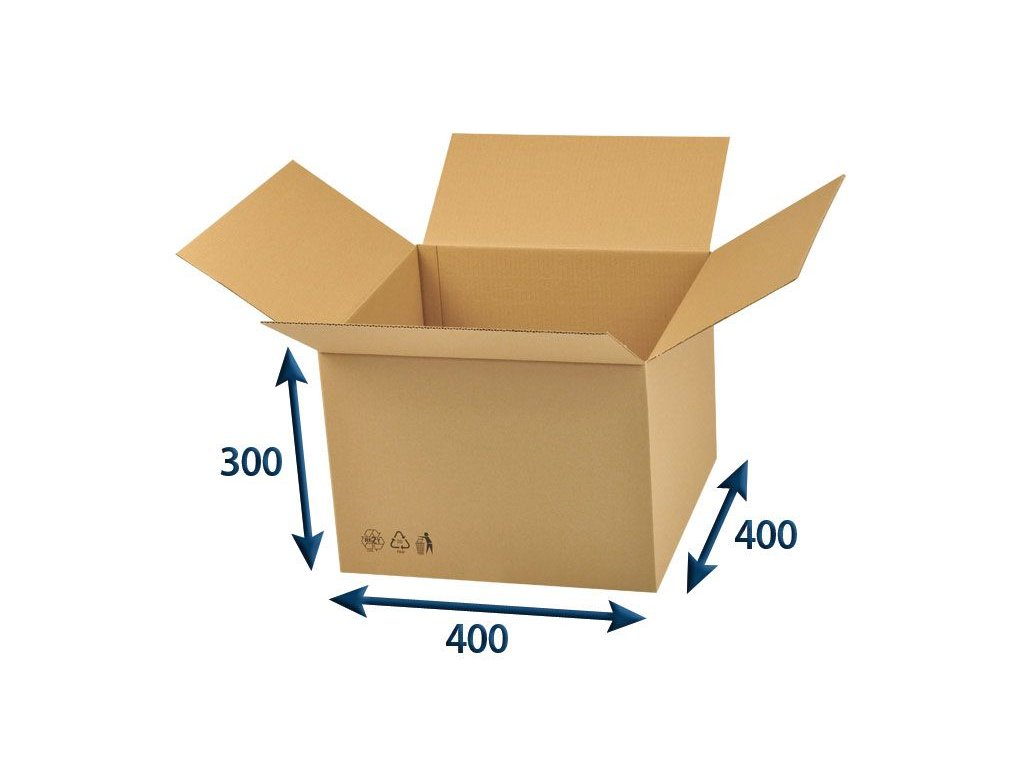 kartonova krabica 400 x 400 x 300 3vvl chlopnova