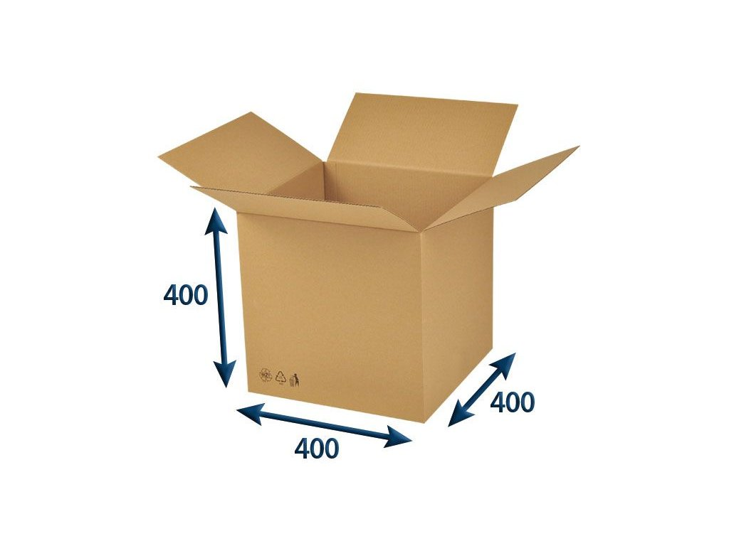 kartonova krabica 400 x 400 x 400 3vvl chlopnova