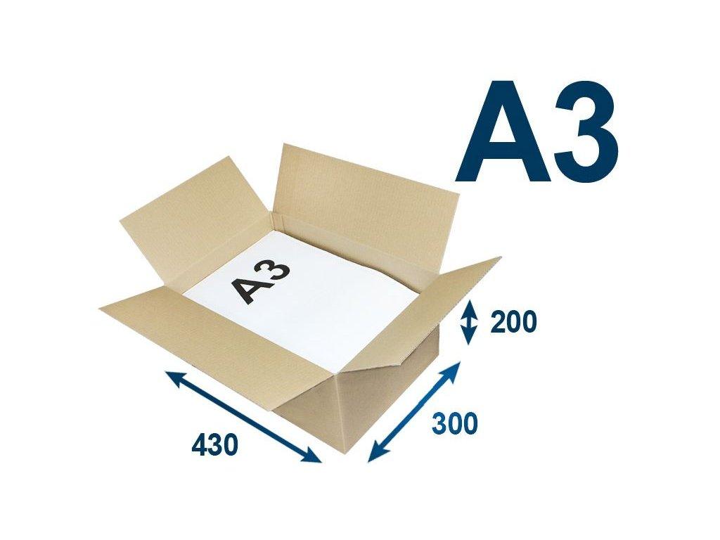 krabica chlopnova na tlacoviny a3 430 x 300 x 200 3vvl