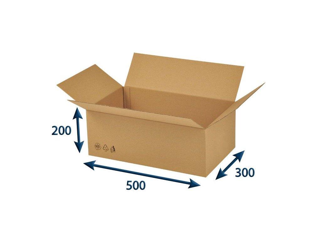 kartonova krabica 500 x 300 x 200 3vvl chlopnova