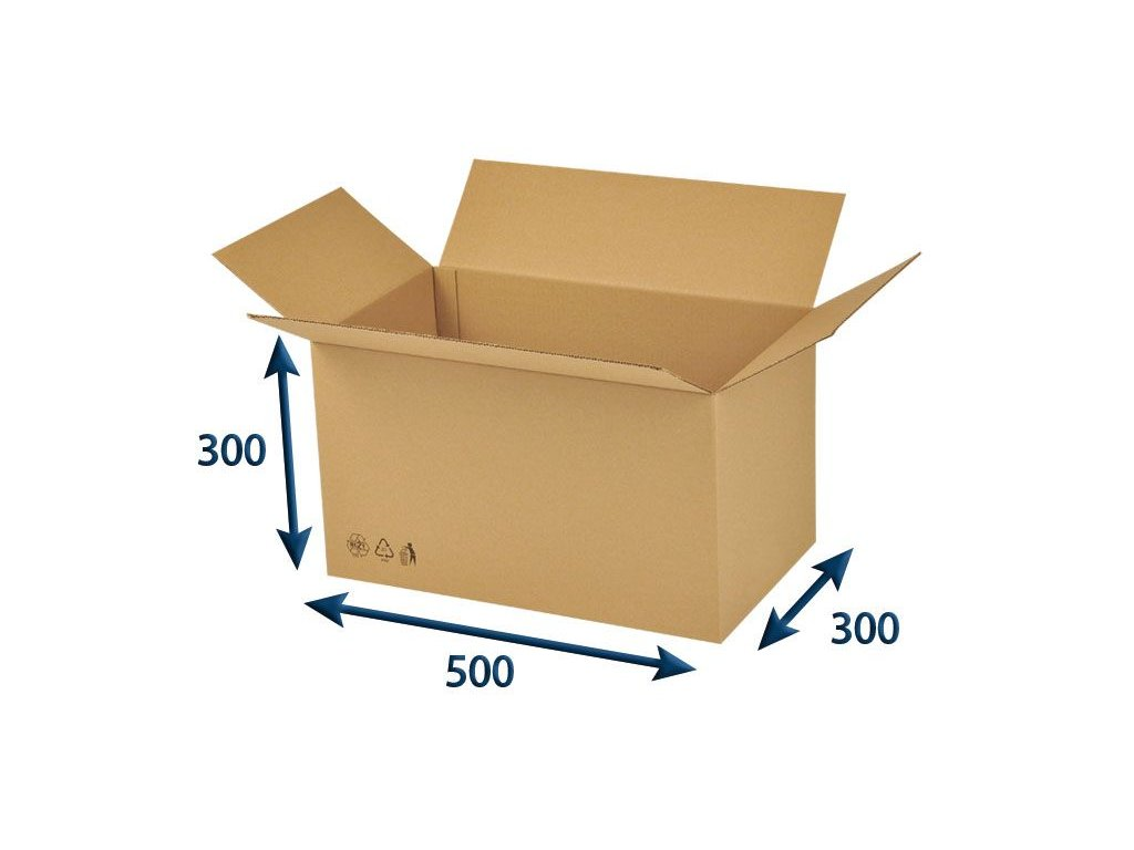 kartonova krabica 500 x 300 x 300 3vvl chlopnova