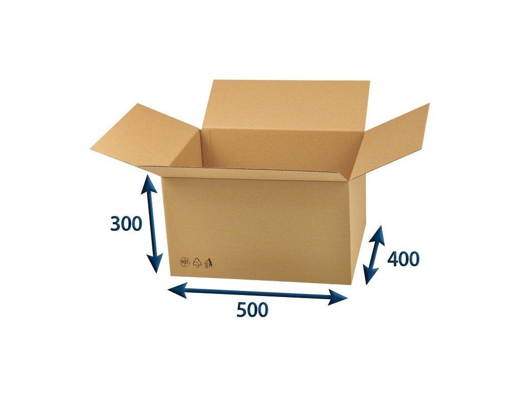 kartonova krabica 500 x 400 x 300 3vvl chlopnova