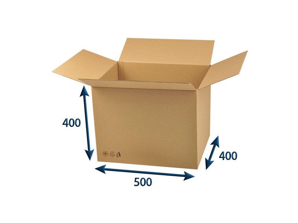 kartonova krabica 500 x 400 x 400 3vvl chlopnova