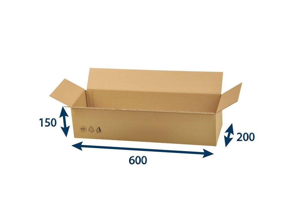 kartonova krabica 600 x 200 x 150 3vvl chlopnova