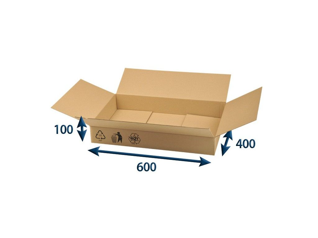 kartonova krabica 600 x 400 x 100 3vvl chlopnova