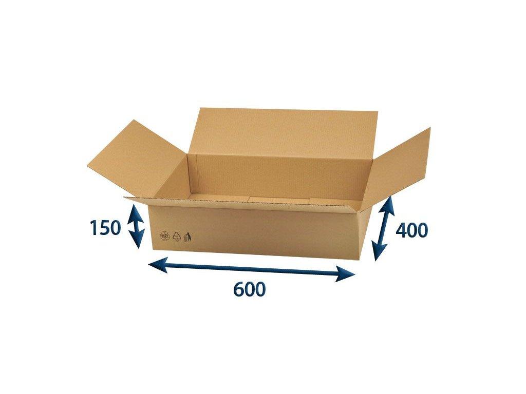 kartonova krabica 600 x 400 x 150 3vvl chlopnova