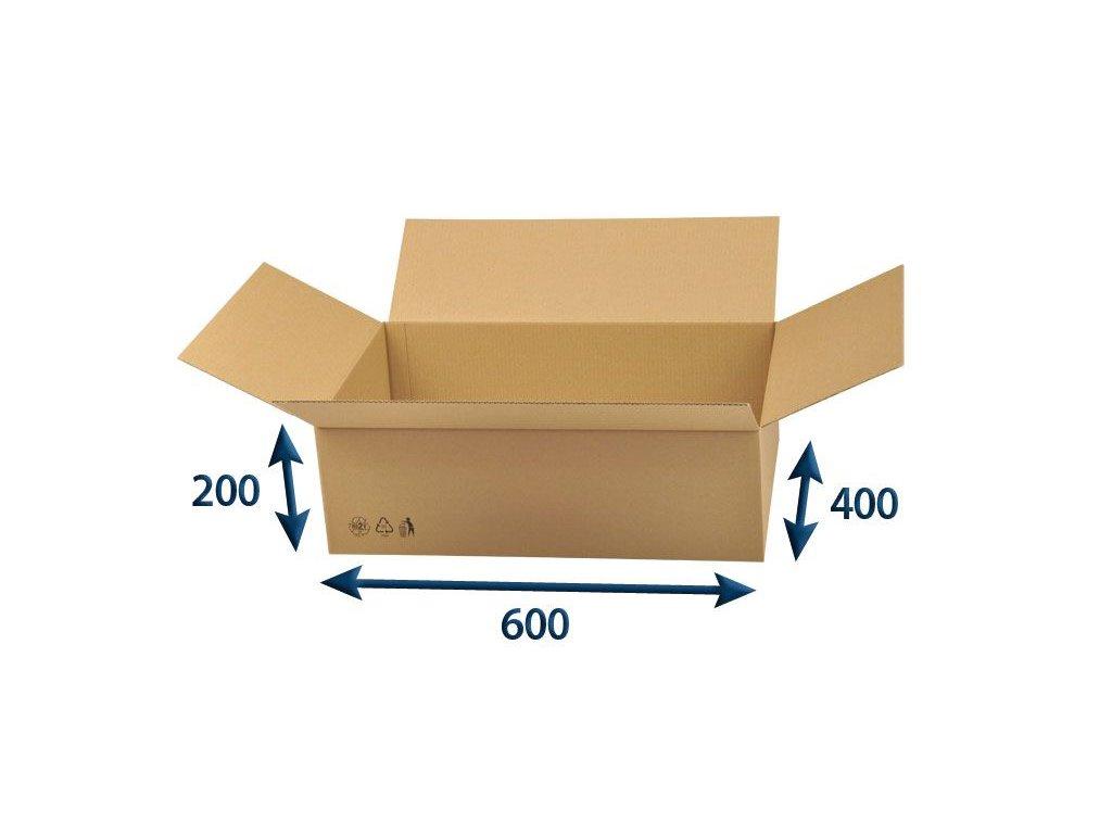 kartonova krabica 600 x 400 x 200 3vvl chlopnova
