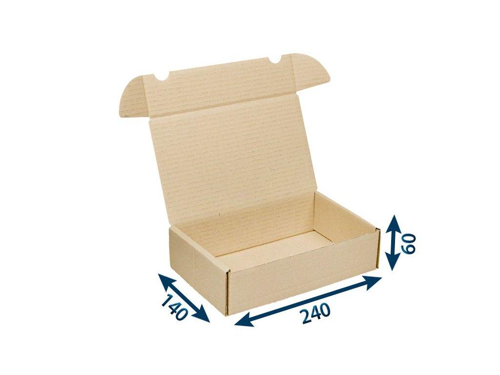 krabica postova hneda 240 x 140 x 60 3vvl