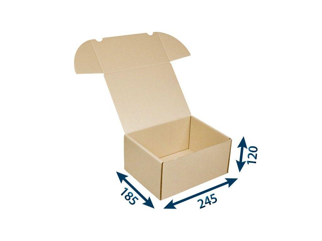 krabica postova hneda 245 x 185 x 120 3vvl