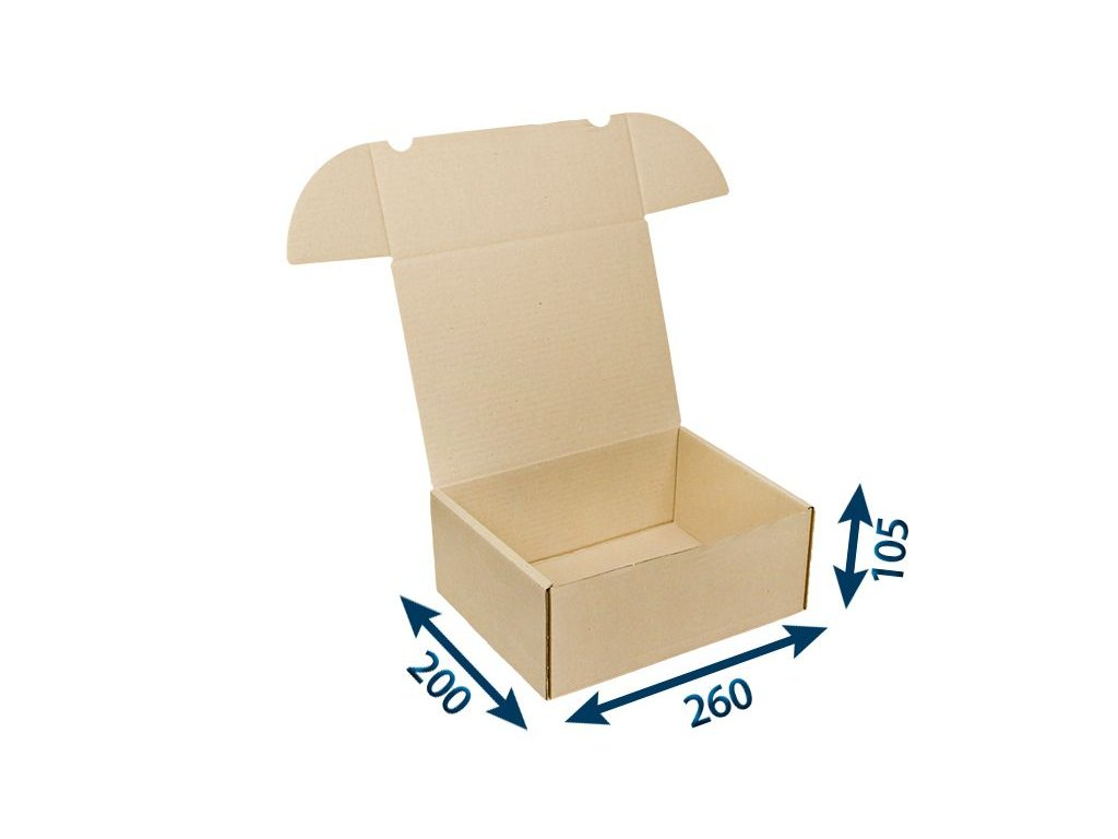 krabica postova hneda 260 x 200 x 105 3vvl