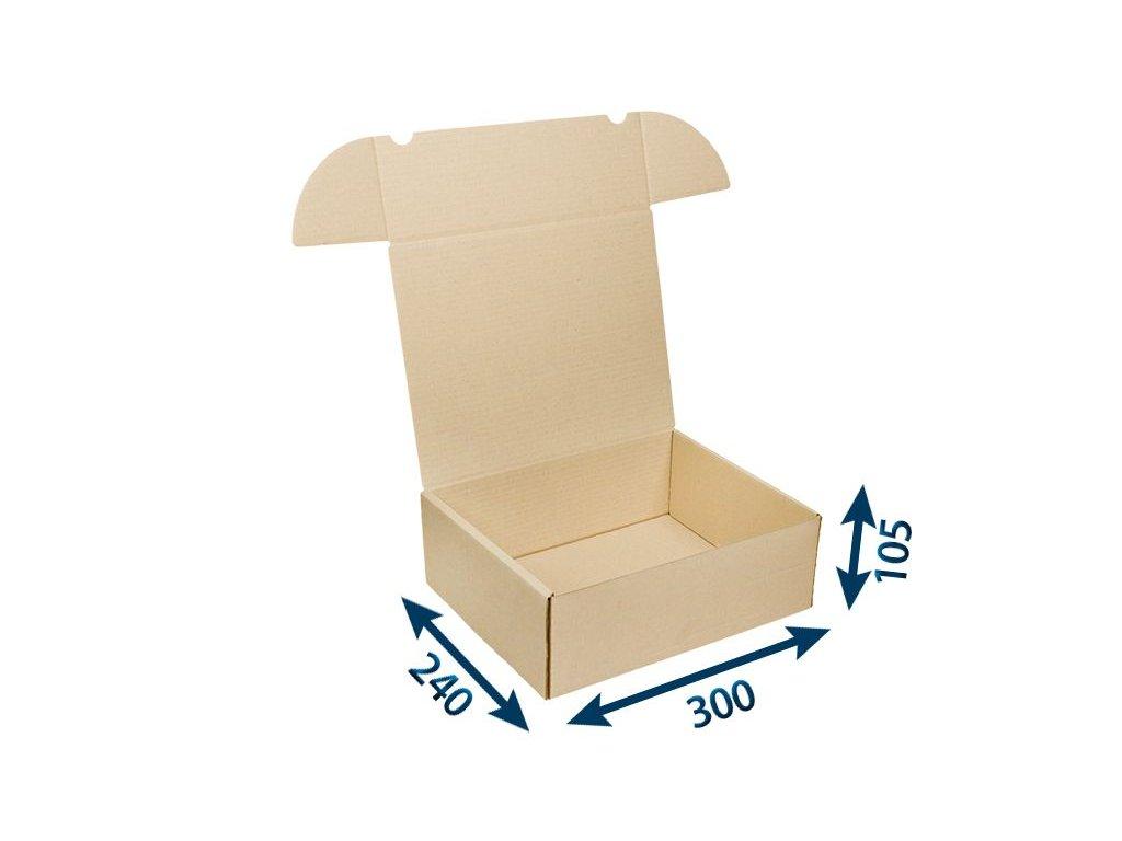 krabica postova hneda 300 x 240 x 105 3vvl