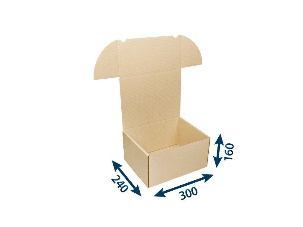 krabica postova hneda 300 x 240 x 160 3vvl