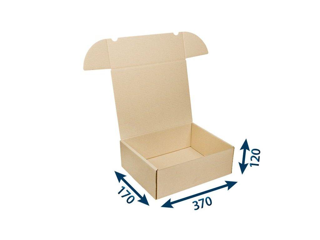 krabica postova hneda 370 x 170 x 120 3vvl