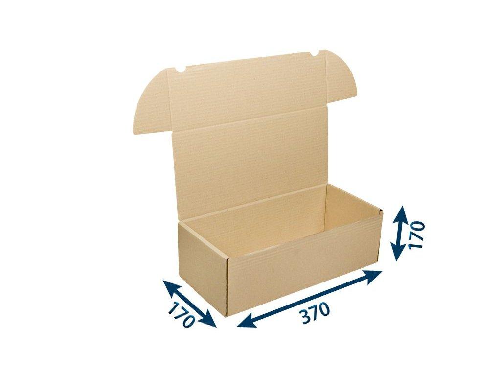 krabica postova hneda 370 x 170 x 170 3vvl
