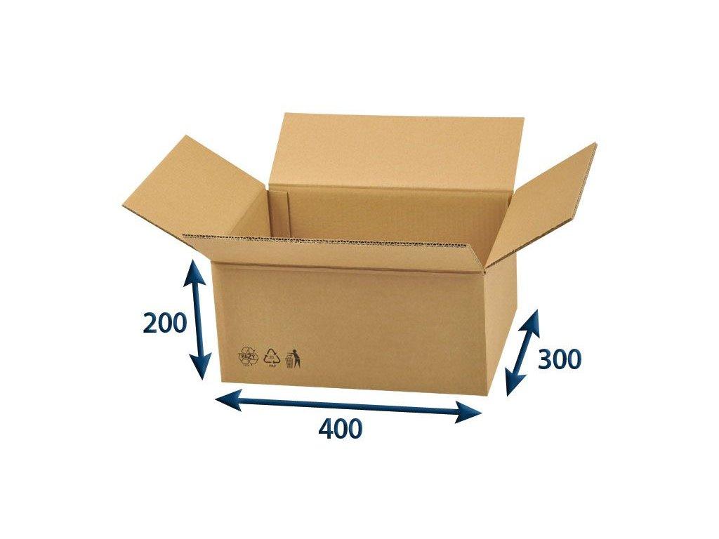 kartonova krabica 400 x 300 x 200 5vvl chlopnova