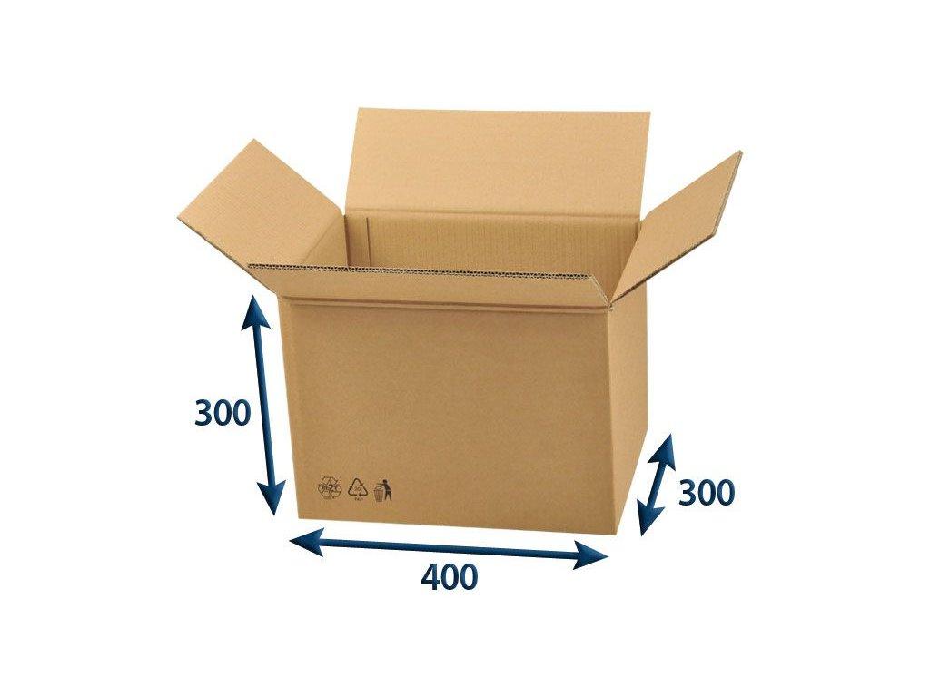kartonova krabica 400 x 300 x 300 5vvl chlopnova