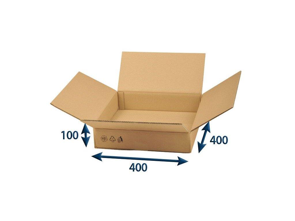 kartonova krabica 400 x 400 x 100 5vvl chlopnova