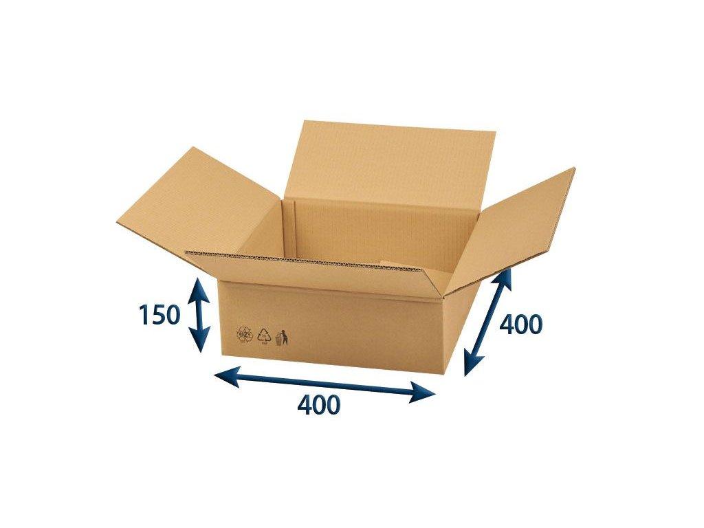 kartonova krabica 400 x 400 x 150 5vvl chlopnova