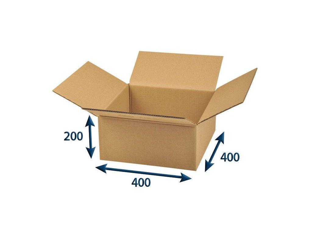 kartonova krabica 400 x 400 x 200 5vvl chlopnova