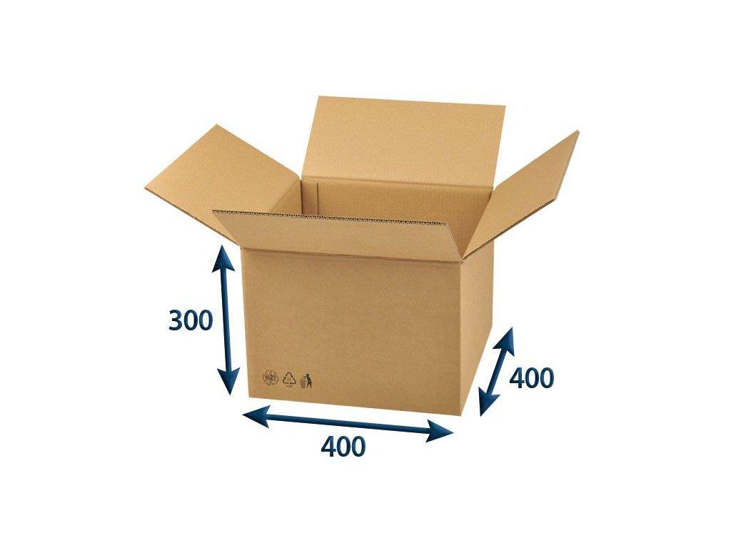 kartonova krabica 400 x 400 x 300 5vvl chlopnova