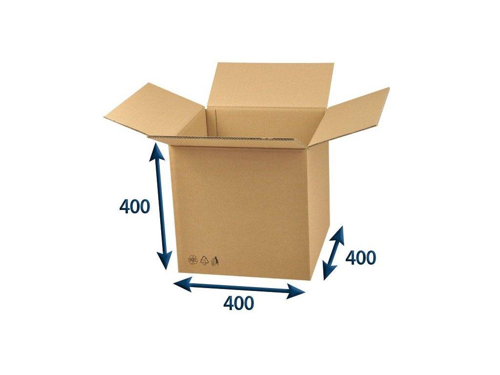 kartonova krabica 400 x 400 x 400 5vvl chlopnova