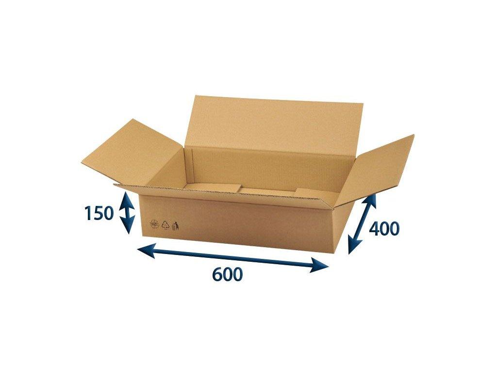 kartonova krabica 600 x 400 x 150 5vvl chlopnova