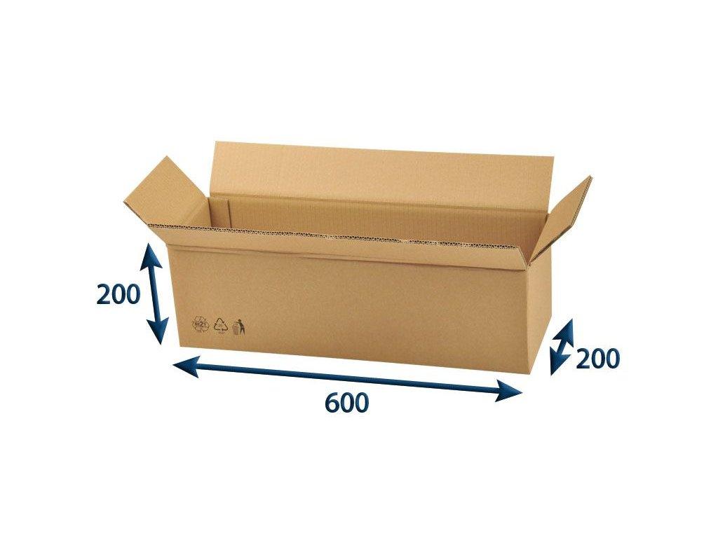 kartonova krabica 600 x 200 x 200 5vvl chlopnova