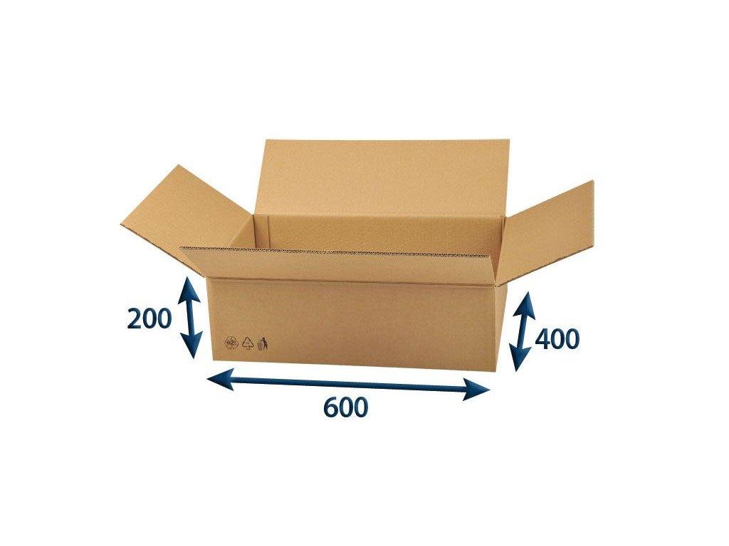 kartonova krabica 600 x 400 x 200 5vvl chlopnova