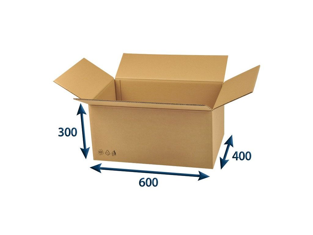kartonova krabica 600 x 400 x 300 5vvl chlopnova