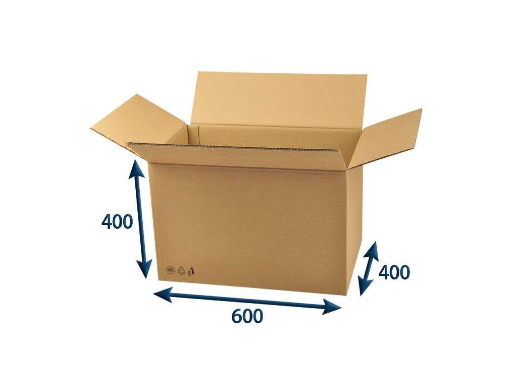 kartonova krabica 600 x 400 x 400 5vvl chlopnova