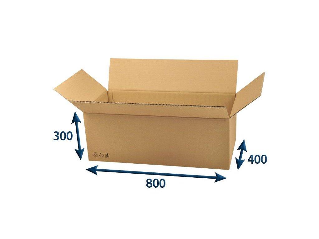 kartonova krabica 800 x 400 x 300 5vvl chlopnova