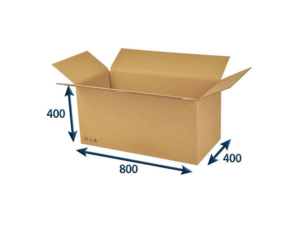 kartonova krabica 800 x 400 x 400 5vvl chlopnova
