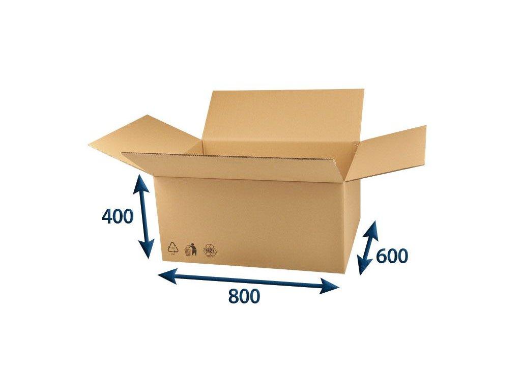 kartonova krabica 800 x 600 x 400 5vvl chlopnova