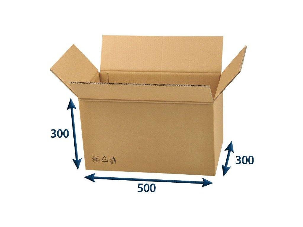 kartonova krabica 500 x 300 x 300 5vvl chlopnova