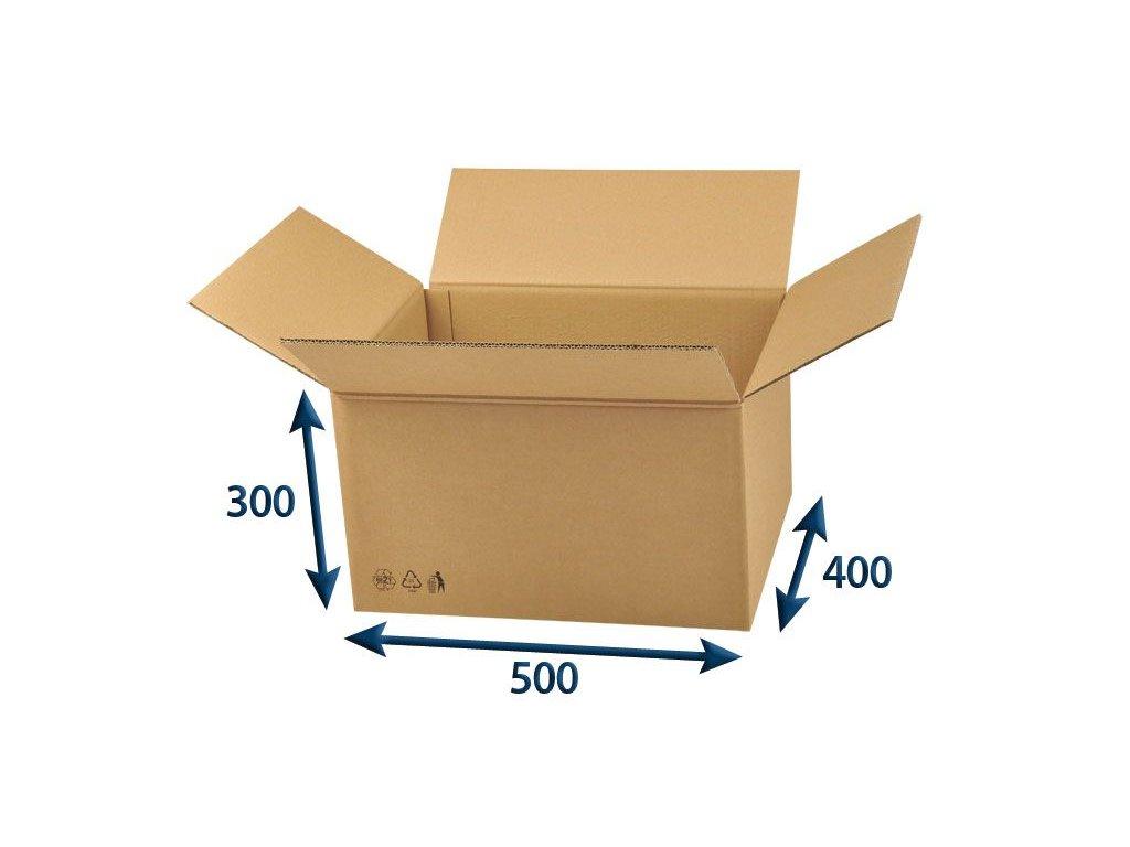 kartonova krabica 500 x 400 x 300 5vvl chlopnova