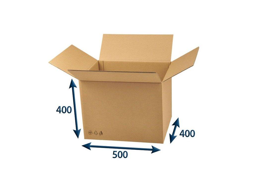 kartonova krabica 500 x 400 x 400 5vvl chlopnova