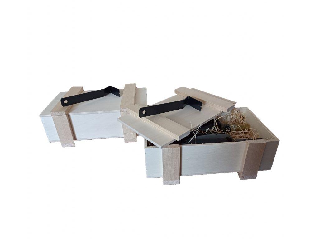Darčeková drevená prepravka EKO JP5 s páčidlom