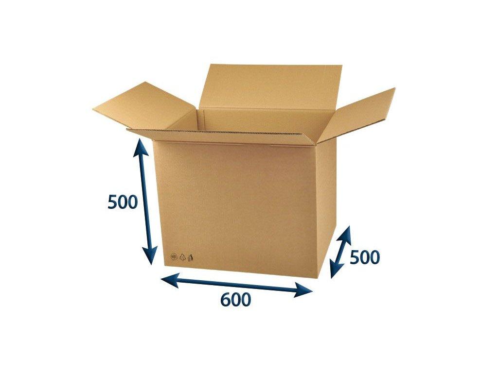 kartonova krabica 600 x 500 x 500 5vvl chlopnova