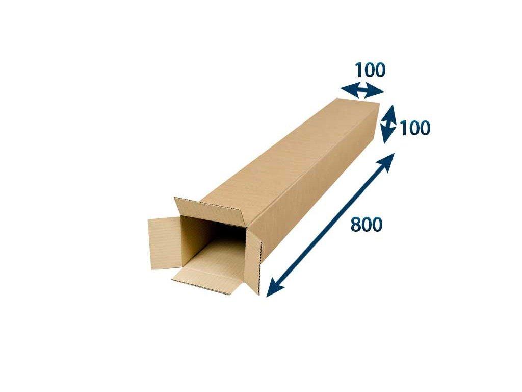 kartonovy tubus 100 x 100 x 800 3vvl
