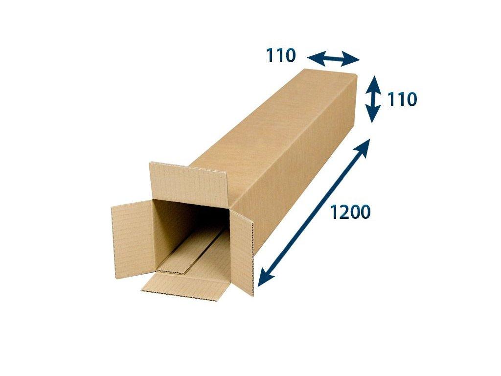 kartonovy tubus 110 x 110 x 1200 3vvl