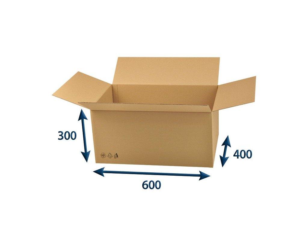 kartonova krabica 600 x 400 x 300 3vvl chlopnova